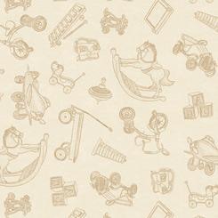 Toys blender on cream; Toyland by QT Fabrics