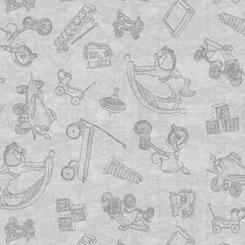 Toys blender on Grey; Toyland by QT Fabrics