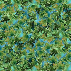 Songbirds 27788-Q Leaves Turquoise