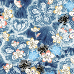 Akemi Tye Dye Floral 27789 W Denim