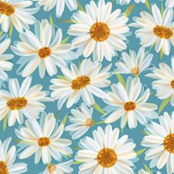 Daisy Meadow Aqua Daisies