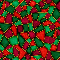 Born Is The King STAINED GLASS RED/GREEN