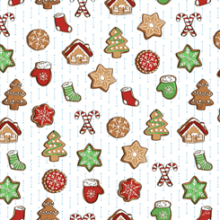 Sweater Weather CHRISTMAS COOKIES WHITE - 27829-Z