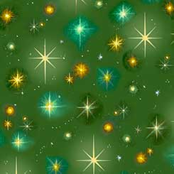 Christ Is Born STARS GREEN