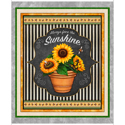 ALWAYS FACE THE SUNSHINE PANEL SUNFLOWER GRAY