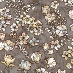 QT Fabrics Cotton Couture FLORAL & COTTON CHARCOAL 27864-K