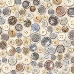 QT Fabrics Cotton Couture BUTTONS CREAM 27849-K