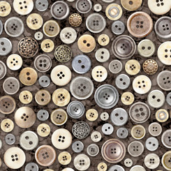 Quilting Treasures Cotton Couture Buttons Charcoal