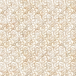 QT Fabrics Cotton Couture FLORAL SCROLL CREAM/GOLD 27868-ES