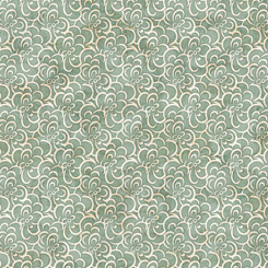 QT Fabrics Cotton Couture FLORAL SCROLL GREEN 27868-H