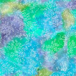 Serafina WATERCOLOR STITCH TURQUOISE