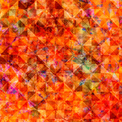 Reflections EVOLUTION for QT Fabrics QUILTED ALLOVER PERSIMMON 27881-OR