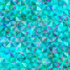Reflections EVOLUTION for QT Fabrics QUILTED ALLOVER AQUA 27881-Q