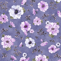 Simone Spaced Floral Violet