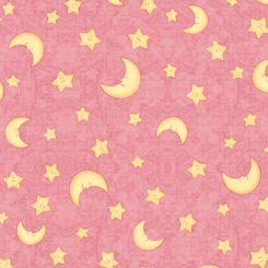 Lullaby : Moon & Stars Dark Pink - #1649-27903-P - Dan Morris