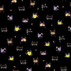 Kitty Cats KITTY CAT HEADS BLACK 27924-J