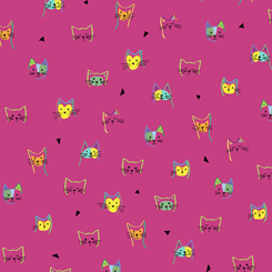 Kitty Cats KITTY CAT HEADS PINK 27924-P