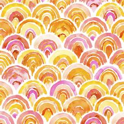 Fruit Punch Orange Scallop Geo