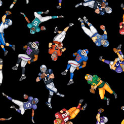 Football Novelteenies FOOTBALL PLAYERS BLACK