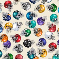 Football Novelteenies 27985-E FOOTBALL HELMETS CREAM