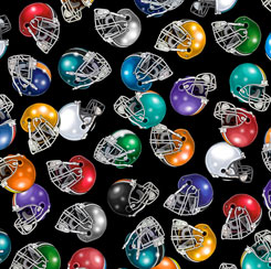 FOOTBALL HELMETS BLACK