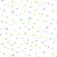 Whiskers Birds White