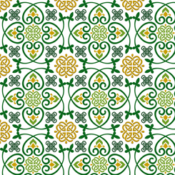 Irish Charm by Marnie Long for QT Fabrics CELTIC MEDALLIONS WHITE 28050-Z