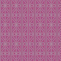 Quilting Treasures Kiwis & Koalas Decorative Dotted Stripe Raspberry