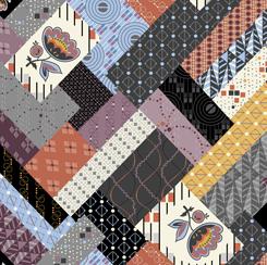 Coco Chic by QT FAbrics -Deco Melange - Multi