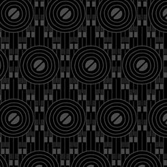 Coco Chic by QT Fabrics -Deco Circles - Black