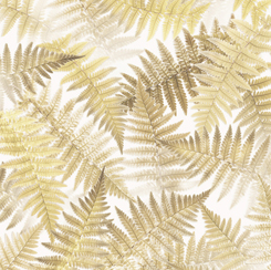 Open Air for QT Fabrics FERNS CREAM 28105-E