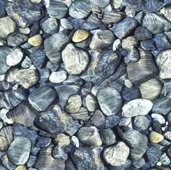 28110-B Quilting Treasures Open Air ROCKS SLATE