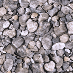 28110-K Quilting Treasures Open Air ROCKS GRAY