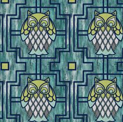 Nocturne OWL TRELLIS TURQUOISE