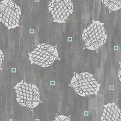 Nocturne Owls Toss Gray 28115 K