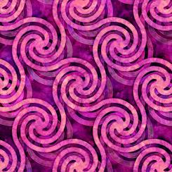 ADAGIO CIRCLE SWIRLS MAGENTA 28132 P