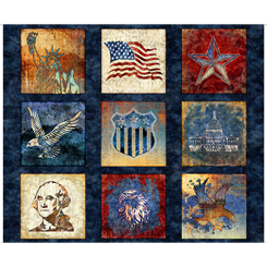 Liberty,Glory,Freedom PATRIOTIC BLOCKS NAVY