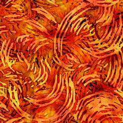 Tropicalia Swirl Geo Burnt Orange