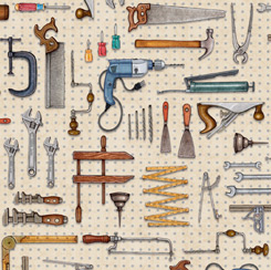 A Little Handy TOOL PEGBOARD NATURAL