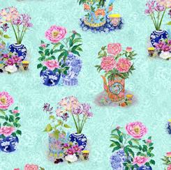 Porcelain Blossoms PORCELAIN BLOSSOMS BLUE 28203 B