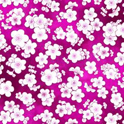 Porcelain Blossoms SMALL FLOWER TOSS FUCHSIA 28205 P