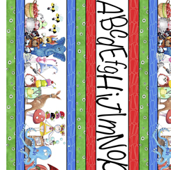 Alphabet Soup ALPHABET STRIPE MULTI