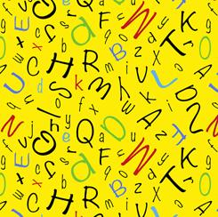 Alphabet Soup ALPHABET TOSS YELLOW FA-28210-S