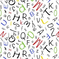 Alphabet Soup ALPHABET TOSS WHITE