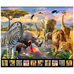 Artworks XVIII Savanna Panel 28220-X Multi