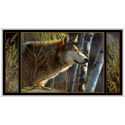 Majestic Wolves WOLF PANEL BLACK