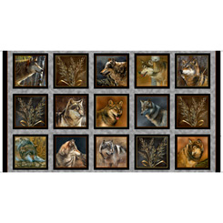 Wolf Picture Patches<br/>QT Fabrics 28225-K