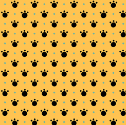 Tiger Tails PAW PRINTS GOLD