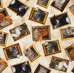 Literary Kitties 28237-E FRAMED KITTIES CREAM