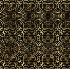 Literary Kitties 28238-J SCROLLWORK BLACK
